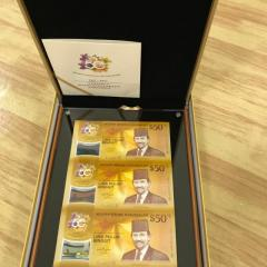 CIA Notes $50 3-IN-1 Uncut Sheet Singapore Brunei Notes