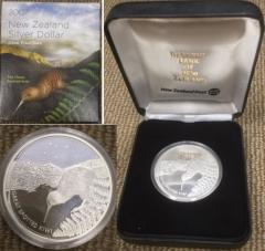 2007 New Zealand Kiwi Icons 1 Oz Silver Proof Coin