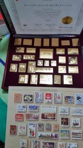 United We Stand - Stamps of Singpore in Gold Plated Solid STerling Silver