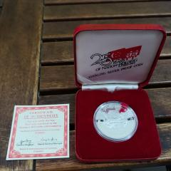 Sterling silver 25 years Proof Coin