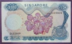 Singapore Orchid Series $50 Banknote 125909